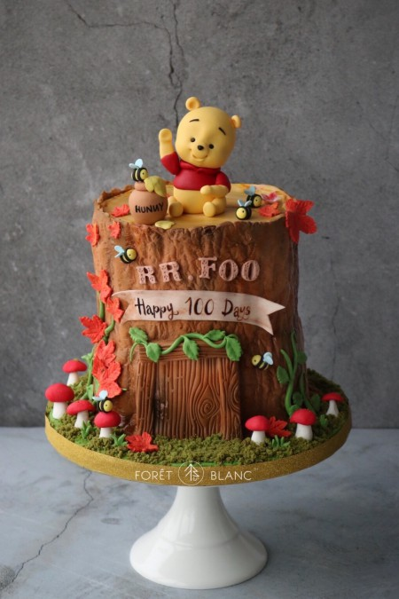Baby Pooh in Hundred Acre Wood