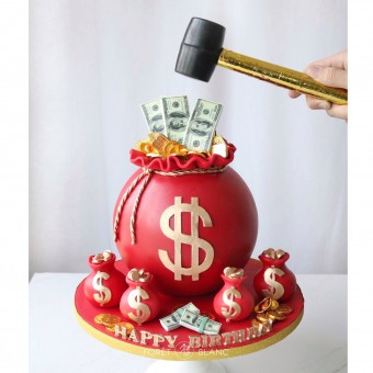 Money Bag Chocolate Pinata