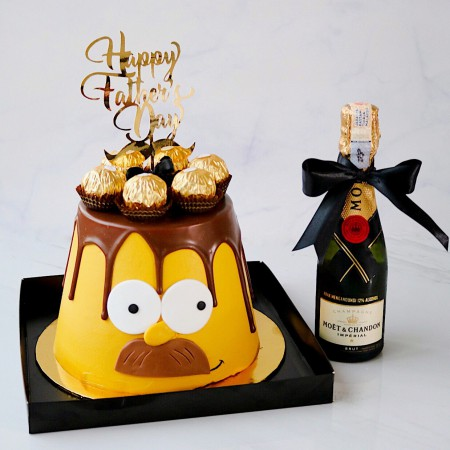 SIMPSON CAKE +MINI MOET