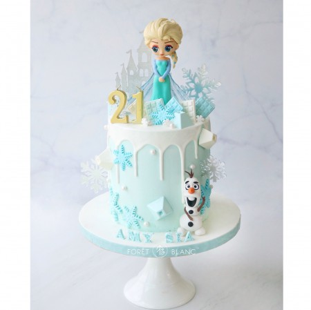 Elsa in Winter Wonderland Cake