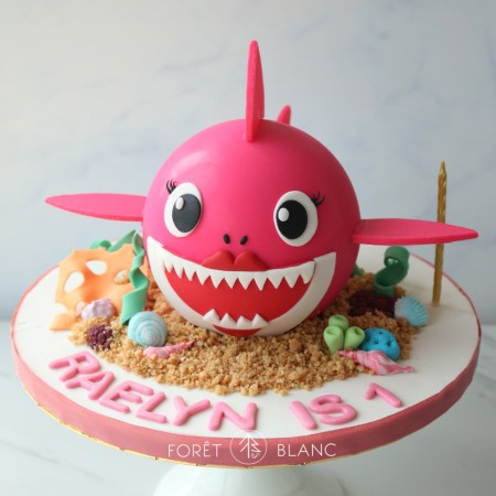 Pink Baby Shark Chocolate Pinata