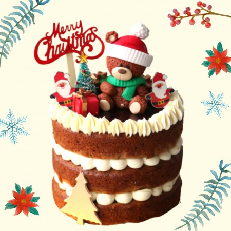 Teddy Christmas Carrot  Cinnamon Raisin Cake