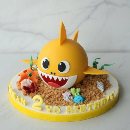 Yellow Baby Shark Chocolate Pinata