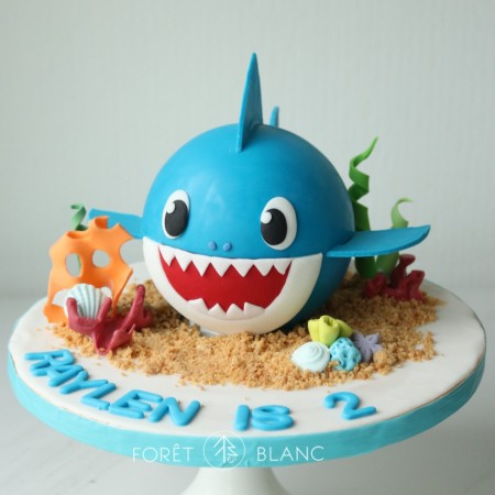 Blue Baby Shark Chocolate Pinata