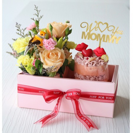 Sweet Companion Set  (Cake + Flower)
