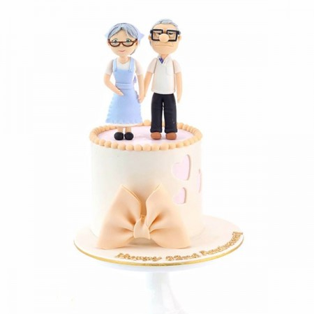 Anniversary Elderly Cake